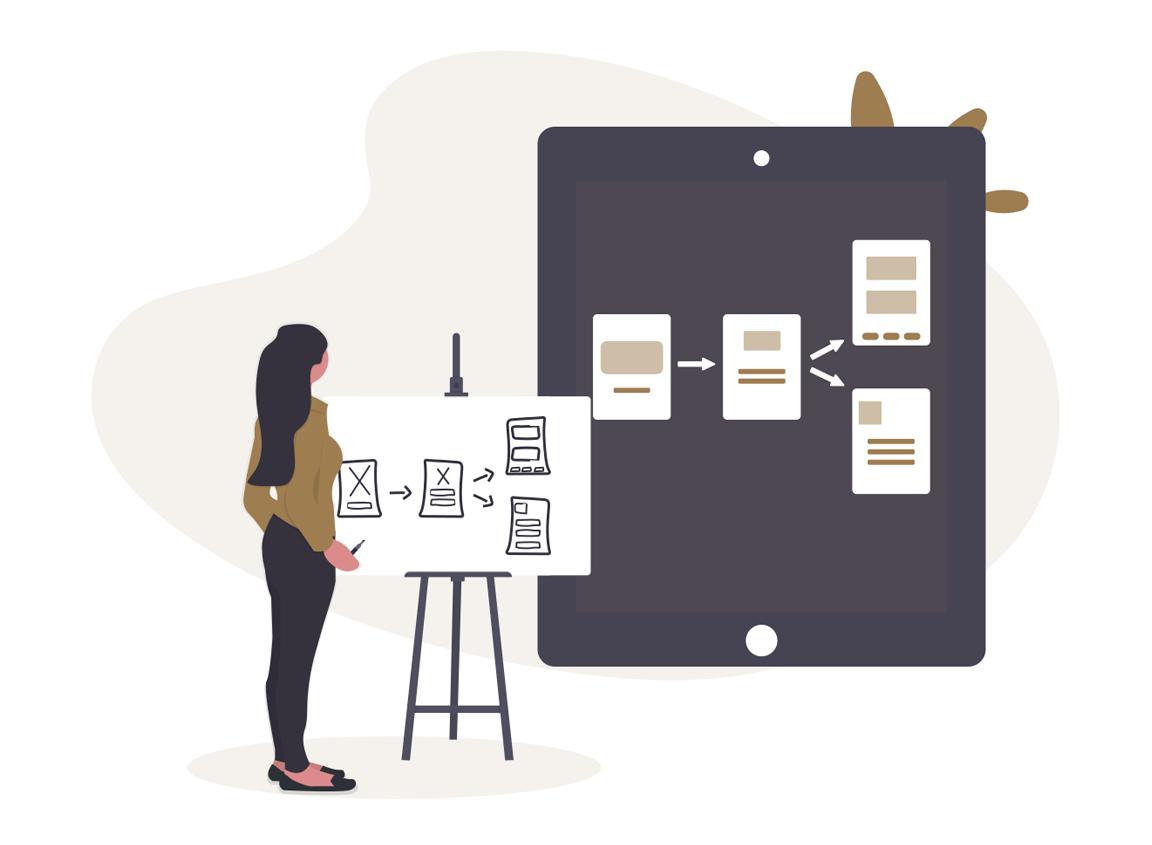 UX UI Design, illustration UX Designer